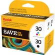 Kodak 30B/30C Black and Color Ink Cartridges, 2/Pack