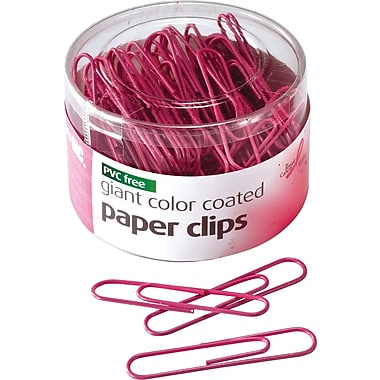 OIC® Pink Ribbon Coated Paper Clips