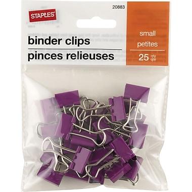 StaplesMD – Pinces relieuses, petites, 3/4 po, violet, 25/pqt