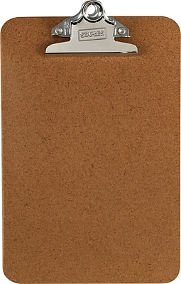 OIC Hardboard Clipboards Letter Brown 6 x 9