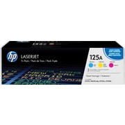 HP 125A C/M/Y Color Toner Cartridges (CE259A), Combo 3/Pack