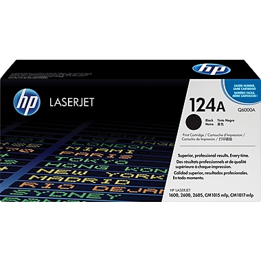 HP 124A Black Toner Cartridge (Q6000A)