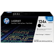 HP 124A Black Toner Cartridges (Q6000AD), Twin Pack