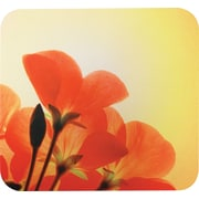 Staples® Orange Flowers Mouse Pad