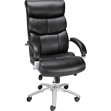 Staples Tilburg Leather Executive High-Back Chair, Black