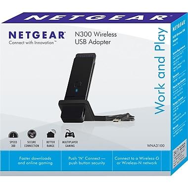 Netgear® N300 WNA3100-100PAS N300 Wireless USB Adapter