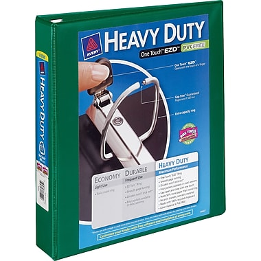 2in. Avery® Heavy-Duty View Binders with One Touch™ EZD® Rings, Green