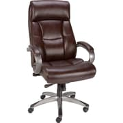 Staples® Herrick™ Bonded Leather Executive High-Back Chair, Brown