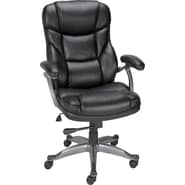 Staples® Osgood™ Bonded Leather Managers High Back Chair, Black