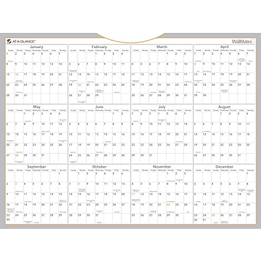 2014 AT-A-GLANCE Dry-Erase Yearly Calendar, Jan.-Dec., 24in. x 18in.