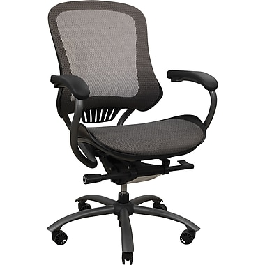 Staples® Kronos™ Mesh Managers Mid-Back Chair, Mocha/Gray