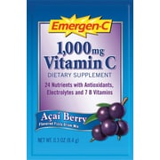Emergen-C Vitamin C Drink Mix, Acai Berry, 0.3 oz., 50 Packets/Box