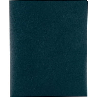 Staples Poly 2-Pocket Folders, Dark Green, Each (21633-CC/20635)