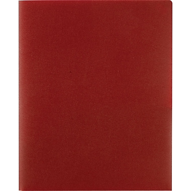 Staples® Poly 2-Pocket Folders, Burgundy