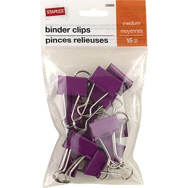 Staples® Binder Clips, Medium 1-1/4