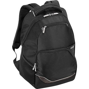 SOLO®  Laptop Backpack, Black with White Trim