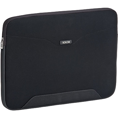 Solo® CheckFast™ Laptop Sleeve, Black, 17.3in.