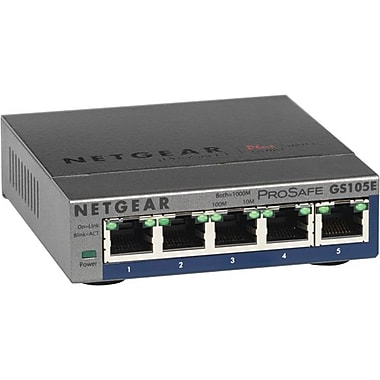 NETGEAR ProSAFE 5-Port Gigabit Ethernet Unmanaged Plus Switch GS105E