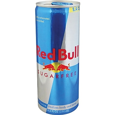 Red Bull Sugar Free, 8.4 oz. Cans, 24/Case