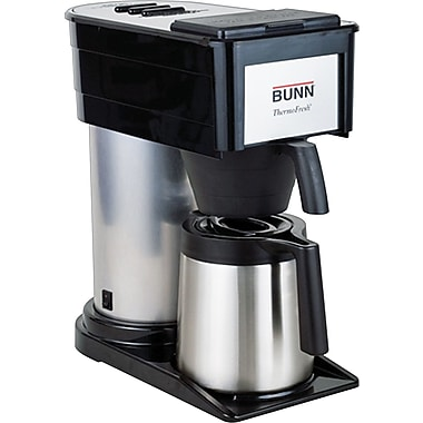Bunn 10-Cup Coffee Maker with Carafe, Black/Stainless Steel