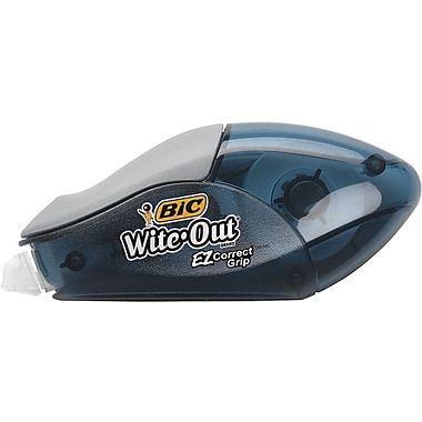 BIC® Wite-Out® Brand EZ Correct Grip™ Correction Tape, White, 1/6in. x 400in., 2/Pk