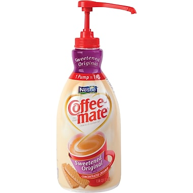 Coffee-mate® Liquid Coffee Creamer Pump Bottles, 1.5 Liter