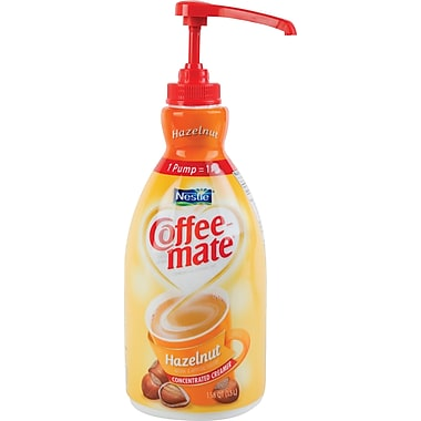 Nestlé Coffee-mate® Liquid Coffee Creamer Pump Bottle, Hazelnut, 1.5 Liter