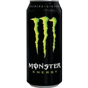 Monster Lemon and Lime Energy Drinks, 16 oz. Cans, 24/Case