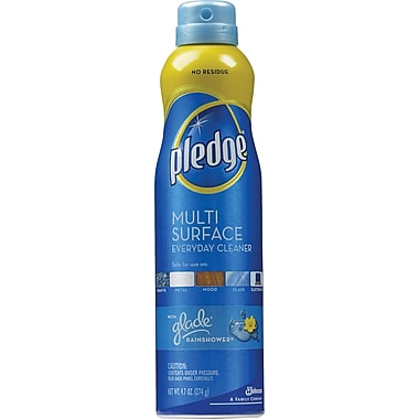 Pledge® Multi-Surface Everyday Cleaner, Glade® Rainshower, 9.7 oz.