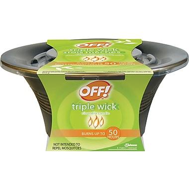 OFF!MD – Chandelle à la citronnelle à triple mèche