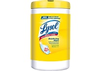 Lysol® Disinfecting Wipes, Lemon and Lime Blossom Scent, 110 Wipes/Tub