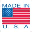 """Pro Tapes & Specialties 2"""" x 3"""" Made in USA Labels, Red/Blue (696967)"""