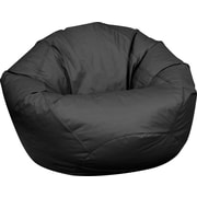 Elite Classic Large Faux Leather Bean Bag Chair, Black
