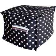 Elite Sit-E-Block Fabric Bean Bag Combination Stool/Ottoman, Polka Dot