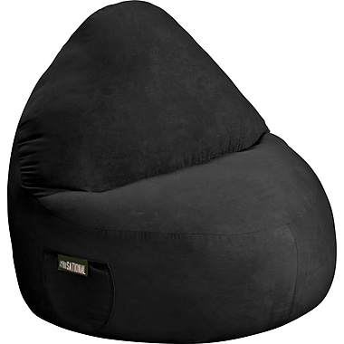 Elite Sitsational Faux Suede 1 Seater Bean Bag Lounger Chair, Black
