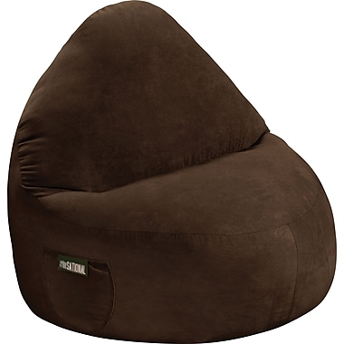 Elite Sitsational Faux Suede 1 Seater Bean Bag Lounger Chair, Chocolate