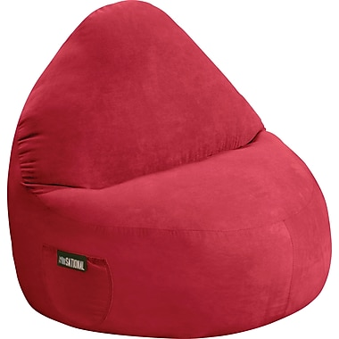 Elite Sitsational Faux Suede 1 Seater Bean Bag Lounger Chair, Lipstick