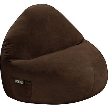 Elite Sitsational Faux Suede 2 Seater Bean Bag Lounger Chair, Chocolate