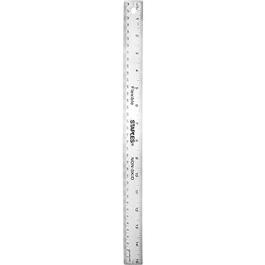 Staples® Stainless Steel Ruler, 15