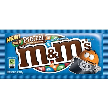 M&M's Pretzel Single, 1.14 oz. Bags, 24 Bags/Box