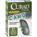 Curad® Kids Adhesive Bandages, Green Camouflage, 3/4in. x 3in., 25 Bandages/Box