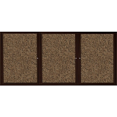 Best-Rite  Enclosed Rubber Tak Bulletin Board with Aluminum Frame, Coffee Finish, 6' x 4'