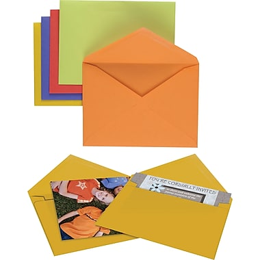 Staples  Gummed Assorted Brights Specialty Envelopes,  50/Box