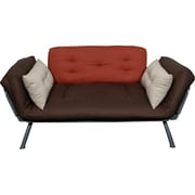 Elite Mali Flex Futon Combination Sofa/Lounger/Sleeper, Stone & Dusk Plank (Brown)