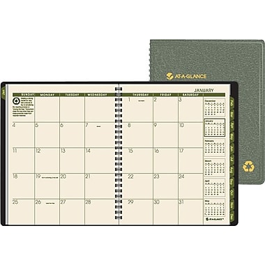 "2014 AT-A-GLANCE®  Monthly Planner, 6 7/8"" x 8 3/4"", Green"