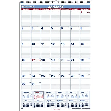 "2014 AT-A-GLANCE® Monthly Wall Calendar, 20"" x 30"""