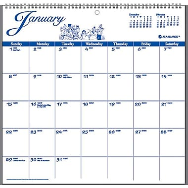 "2014 AT-A-GLANCE® 12-Month Illustrator's Edition Wall Calendar, 12"" x 11 3/4"""