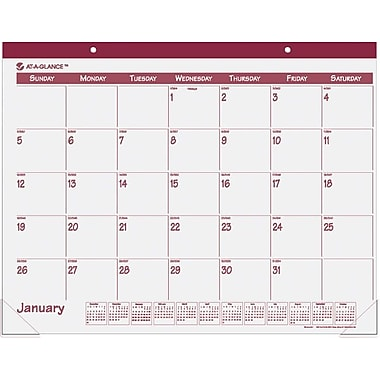 "2014 AT-A-GLANCE® Fashion Desk Pad, 22"" x 17"", Rose"