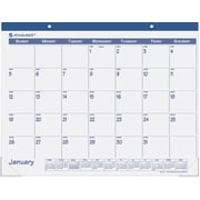 "2014 AT-A-GLANCE® Fashion Desk Pad, 22"" x 17"", Blue"