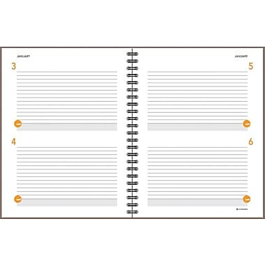 AT-A-GLANCE® Two Days Per Page Planning Notebook, Gray, 8-1/2in. X 11in.